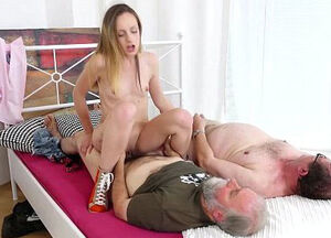 Old woman young man porn